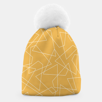 Thumbnail image of Abstract geometric pattern - bronze. Beanie, Live Heroes