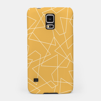 Miniaturka Abstract geometric pattern - bronze. Samsung Case, Live Heroes