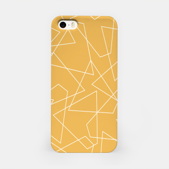 Thumbnail image of Abstract geometric pattern - bronze. iPhone Case, Live Heroes
