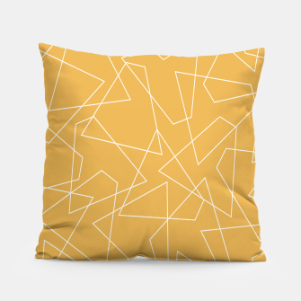 Thumbnail image of Abstract geometric pattern - bronze. Pillow, Live Heroes