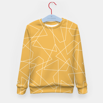 Thumbnail image of Abstract geometric pattern - bronze. Kid's sweater, Live Heroes