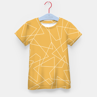 Thumbnail image of Abstract geometric pattern - bronze. Kid's t-shirt, Live Heroes