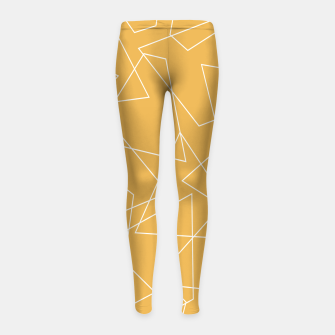 Thumbnail image of Abstract geometric pattern - bronze. Girl's leggings, Live Heroes