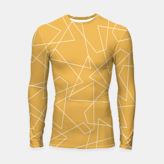 Thumbnail image of Abstract geometric pattern - bronze. Longsleeve rashguard , Live Heroes