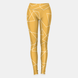 Miniature de image de Abstract geometric pattern - bronze. Leggings, Live Heroes