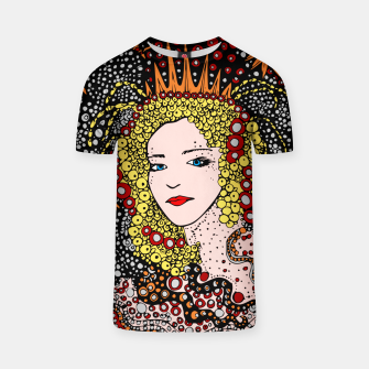 Thumbnail image of  Mujer Chica Reina Pintura Arte Noche Estrellas Camiseta, Live Heroes