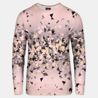 Miniature de image de Strawberry dreams and pieces of dark chocolate, delicate blush pink geometric explosion Unisex sweater, Live Heroes