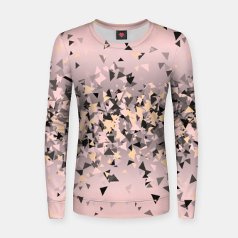 Miniature de image de Strawberry dreams and pieces of dark chocolate, delicate blush pink geometric explosion Women sweater, Live Heroes