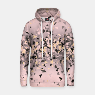 Miniature de image de Strawberry dreams and pieces of dark chocolate, delicate blush pink geometric explosion Hoodie, Live Heroes