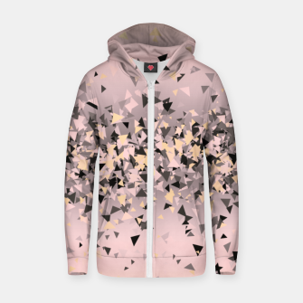 Miniature de image de Strawberry dreams and pieces of dark chocolate, delicate blush pink geometric explosion Zip up hoodie, Live Heroes