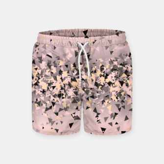 Miniature de image de Strawberry dreams and pieces of dark chocolate, delicate blush pink geometric explosion Swim Shorts, Live Heroes