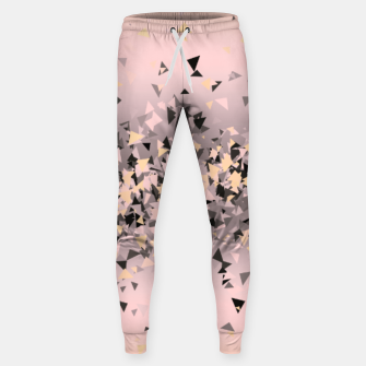 Miniature de image de Strawberry dreams and pieces of dark chocolate, delicate blush pink geometric explosion Sweatpants, Live Heroes