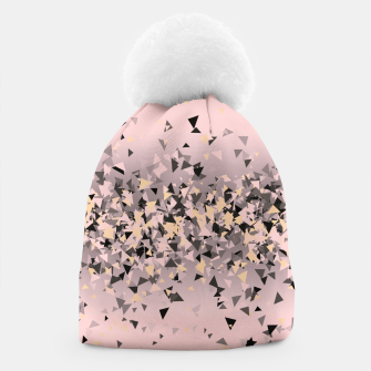 Miniature de image de Strawberry dreams and pieces of dark chocolate, delicate blush pink geometric explosion Beanie, Live Heroes