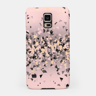 Miniature de image de Strawberry dreams and pieces of dark chocolate, delicate blush pink geometric explosion Samsung Case, Live Heroes