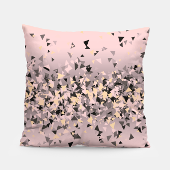 Miniature de image de Strawberry dreams and pieces of dark chocolate, delicate blush pink geometric explosion Pillow, Live Heroes