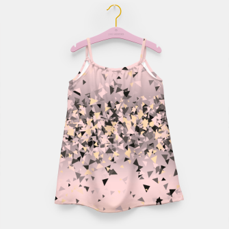 Miniature de image de Strawberry dreams and pieces of dark chocolate, delicate blush pink geometric explosion Girl's dress, Live Heroes