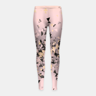 Miniature de image de Strawberry dreams and pieces of dark chocolate, delicate blush pink geometric explosion Girl's leggings, Live Heroes