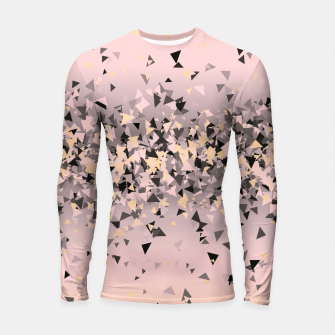 Thumbnail image of Strawberry dreams and pieces of dark chocolate, delicate blush pink geometric explosion Longsleeve rashguard , Live Heroes