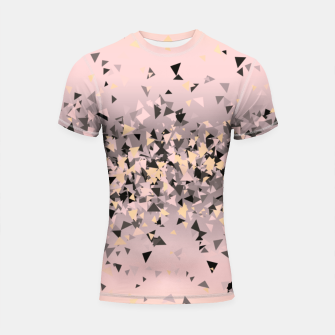 Miniature de image de Strawberry dreams and pieces of dark chocolate, delicate blush pink geometric explosion Shortsleeve rashguard, Live Heroes