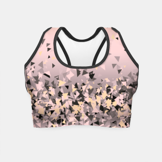 Miniature de image de Strawberry dreams and pieces of dark chocolate, delicate blush pink geometric explosion Crop Top, Live Heroes