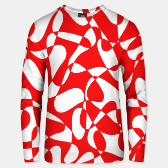 Thumbnail image of Abstract pattern - red and white. Unisex sweater, Live Heroes
