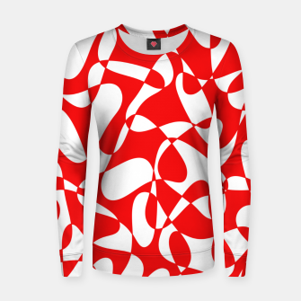 Miniaturka Abstract pattern - red and white. Women sweater, Live Heroes