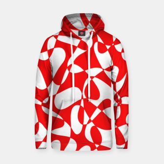 Miniaturka Abstract pattern - red and white. Hoodie, Live Heroes