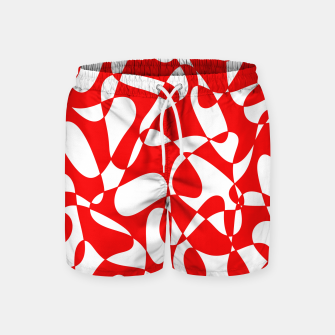 Miniaturka Abstract pattern - red and white. Swim Shorts, Live Heroes