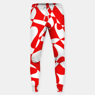 Miniaturka Abstract pattern - red and white. Sweatpants, Live Heroes
