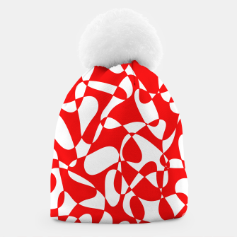 Miniaturka Abstract pattern - red and white. Beanie, Live Heroes
