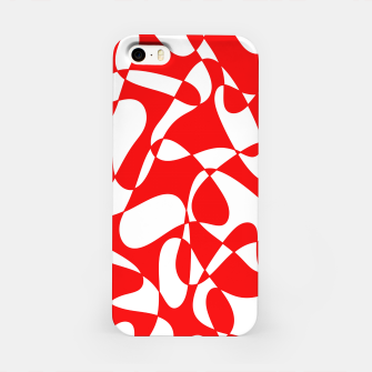 Miniature de image de Abstract pattern - red and white. iPhone Case, Live Heroes