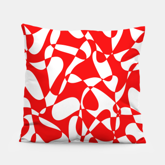 Miniaturka Abstract pattern - red and white. Pillow, Live Heroes