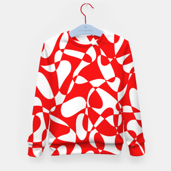 Miniaturka Abstract pattern - red and white. Kid's sweater, Live Heroes