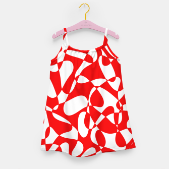 Miniaturka Abstract pattern - red and white. Girl's dress, Live Heroes