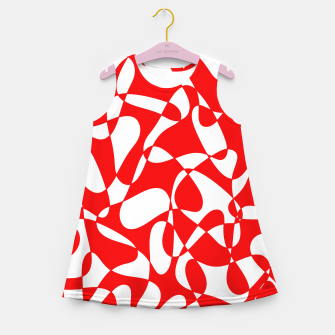Miniaturka Abstract pattern - red and white. Girl's summer dress, Live Heroes