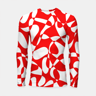 Thumbnail image of Abstract pattern - red and white. Longsleeve rashguard , Live Heroes
