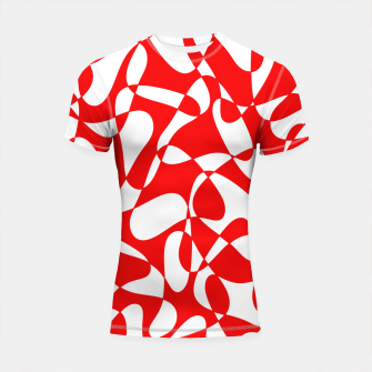 Miniature de image de Abstract pattern - red and white. Shortsleeve rashguard, Live Heroes