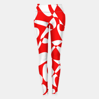 Miniature de image de Abstract pattern - red and white. Leggings, Live Heroes
