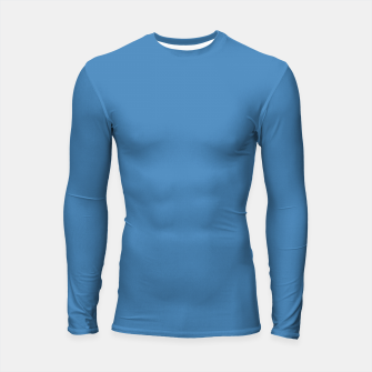 Thumbnail image of color steel blue Longsleeve rashguard , Live Heroes