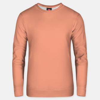 Thumbnail image of color dark salmon Unisex sweater, Live Heroes