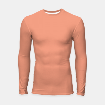 Thumbnail image of color dark salmon Longsleeve rashguard , Live Heroes