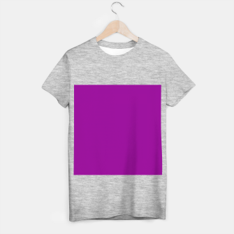 Miniature de image de color dark magenta T-shirt regular, Live Heroes