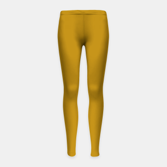 Thumbnail image of color dark goldenrod Girl's leggings, Live Heroes