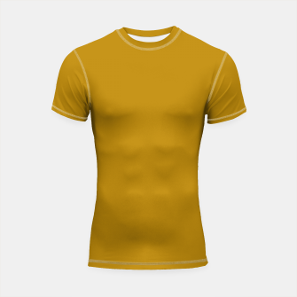Thumbnail image of color dark goldenrod Shortsleeve rashguard, Live Heroes