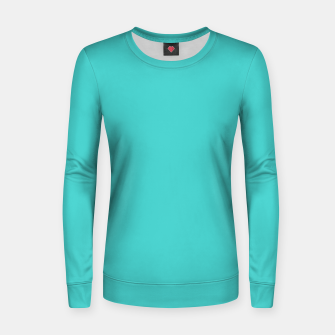 Thumbnail image of color medium turquoise Women sweater, Live Heroes
