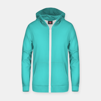 Thumbnail image of color medium turquoise Zip up hoodie, Live Heroes