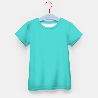 Thumbnail image of color medium turquoise Kid's t-shirt, Live Heroes
