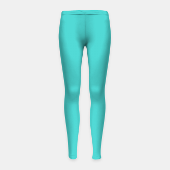 Thumbnail image of color medium turquoise Girl's leggings, Live Heroes