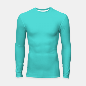 Thumbnail image of color medium turquoise Longsleeve rashguard , Live Heroes