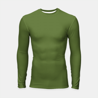 Thumbnail image of color dark olive green Longsleeve rashguard , Live Heroes